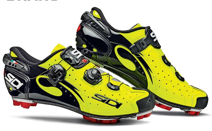 Sidi-America-Drako-SRS-MTB-Cycling-Shoes-Yellow-Fluorescent-Mountain