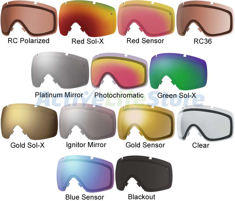 Smith Goggles Replacement Lenses : Smith optics i o replacement lens lenses for snow